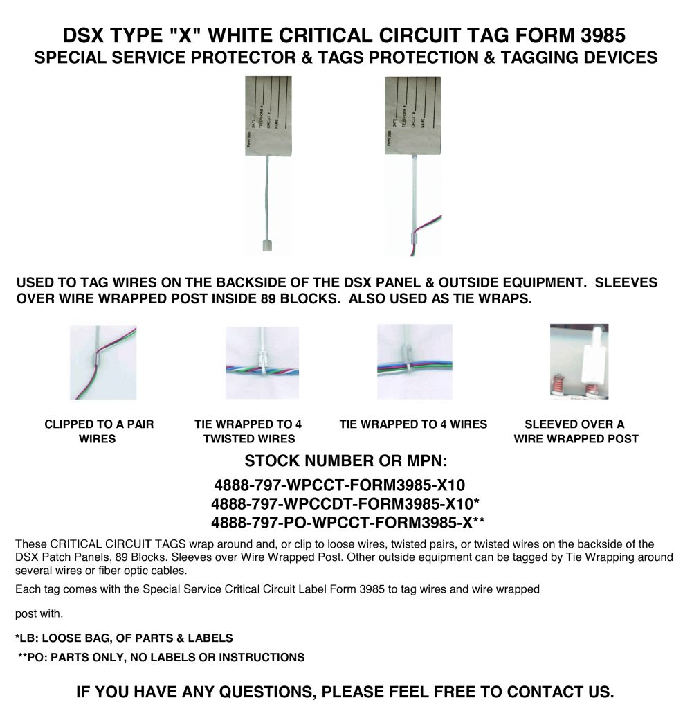 DSX TYPE X WHITE PLASTIC CRTICAL CIRCUIT TAG FORM 3985 LINE SHEET REVISED 11 29 2014 1000x1024 dsx type x white plastic critical circuit tag form 3985 west dsx panel wiring diagram at reclaimingppi.co