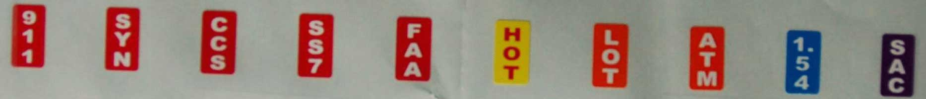 DSX PROTECTION & TAGGING DEVICE LABELS TYPE B C D